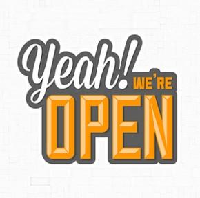 Yeah! We're open!