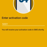 Entering the SMS/text code sent to the user following the previous step creates a secure, encrypted communication channel between the device and the server.